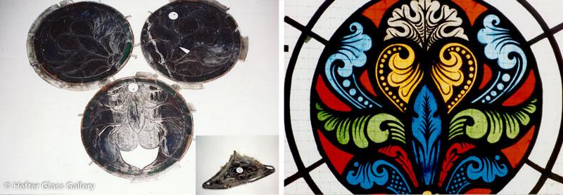ólomüveg restaurálás mátyástemplom hefter lászló