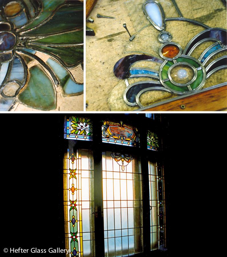 ólomüveg ablak restaurálás nemzeti bank hefter lászló