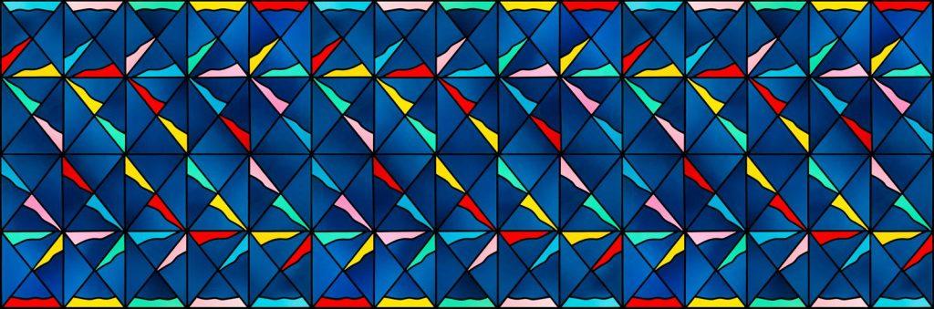 színes üveg ornamentika