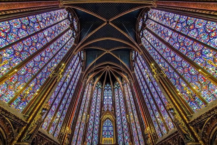 ólomüveg sainte chapelle